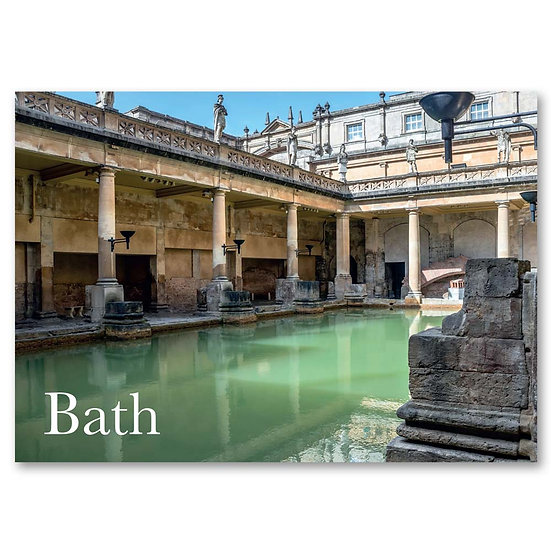Bath, The Roman Baths - Sold in pack (100 postcards)
