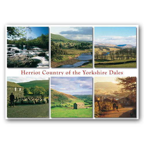 Yorkshire Dales Herriot Country Comp - Sold in pack (100 postcards)