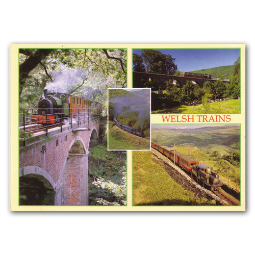 Wales Great Little Trains of - Sold in pack (100 postcards)