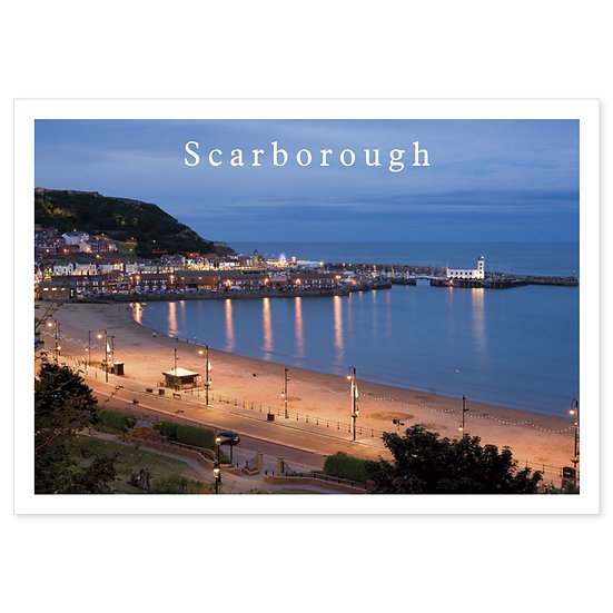 Scarborough Night - Sold in pack (100 postcards)