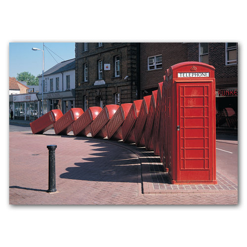 British Telephone Box Sculpture - Sold in pack (100 postcards)