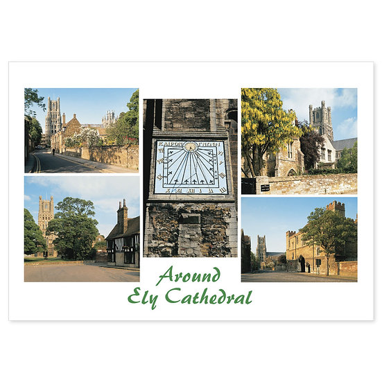 Ely Cathedral Around - Sold in pack (100 postcards)