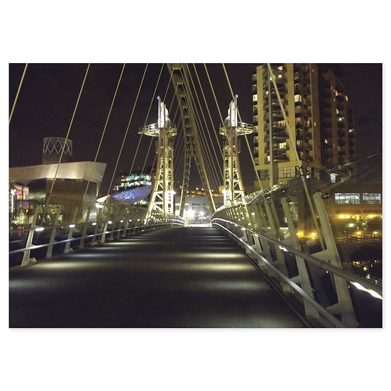 Trafford Park Night - Sold in pack (100 postcards)