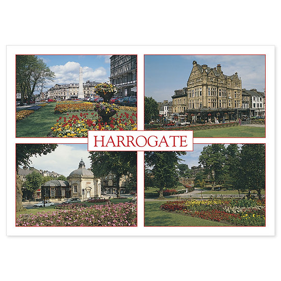 Harrogate 4 View Comp - Sold in pack (100 postcards)