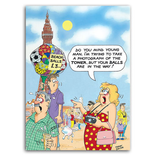 Blackpool Beach Balls - Sold in pack (100 postcards)