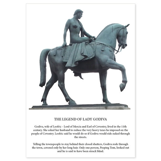 Coventry Lady Godiva - Sold in pack (100 postcards)