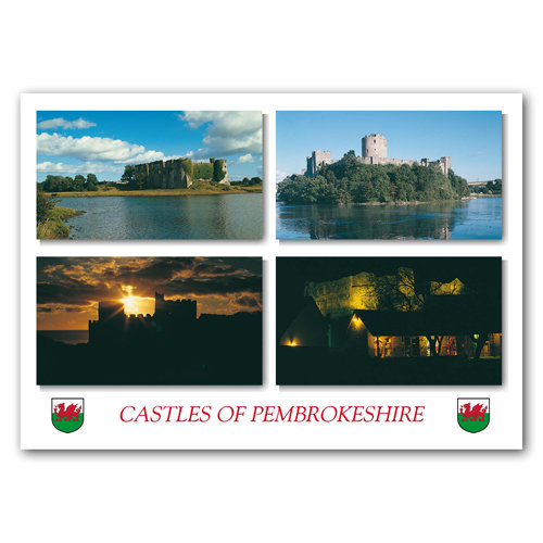 Castles of Pembrokeshire - Sold in pack (100 postcards)