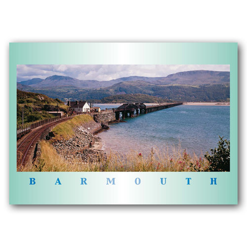 Barmouth Estuary & Bridge - Sold in pack (100 postcards)