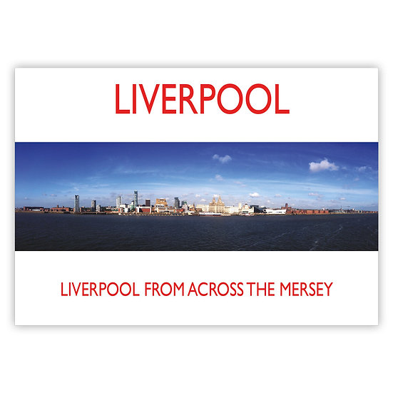 Liverpool from across the Mersey - Sold in pack (100 postcards)