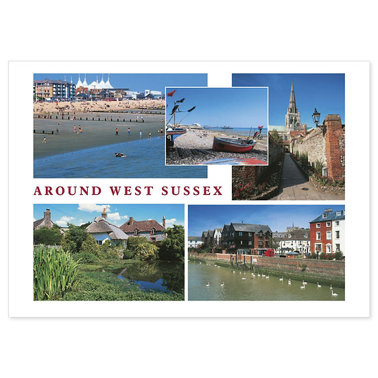 West Sussex Around - Sold in pack (100 postcards)