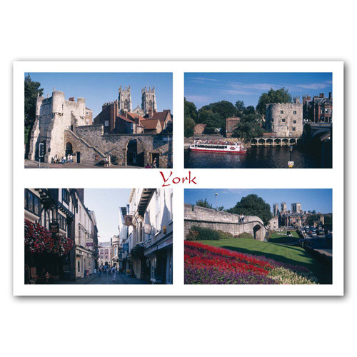 York 4 View Comp - Sold in pack (100 postcards)