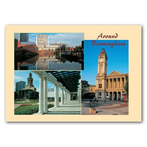 Birmingham Around Comp - Sold in pack (100 postcards)