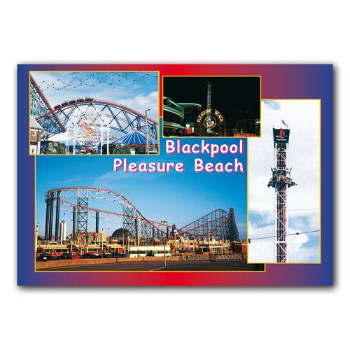 Blackpool Pleasure Beach - Sold in pack (100 postcards)