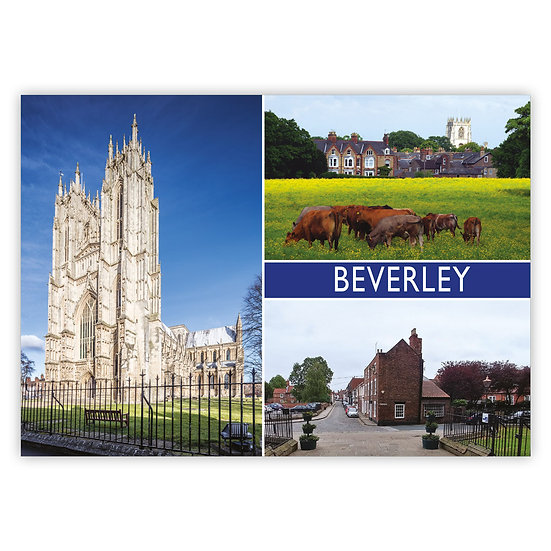 Beverley 3 View Comp - Sold in pack (100 postcards)