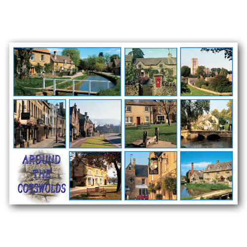 Cotswolds Around Multi Comp - Sold in pack (100 postcards)