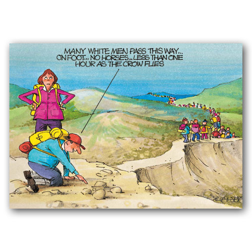 Yorkshire Humour Tracking Footprints - Sold in pack (100 postcards)