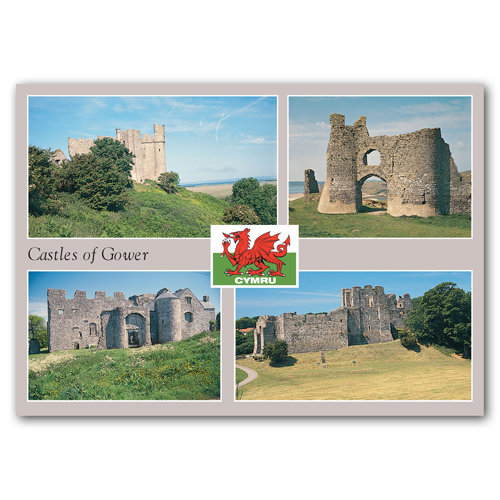 Castles of Gower - Sold in pack (100 postcards)