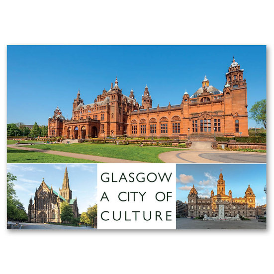 Glasgow, A City of Culture - Sold in pack (100 postcards)