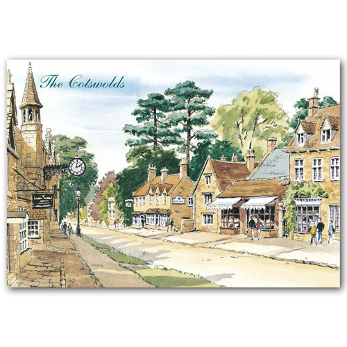 Broadway Watercolour - Sold in pack (100 postcards)