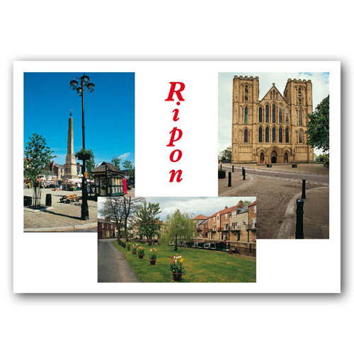 Ripon 3 View Comp - Sold in pack (100 postcards)