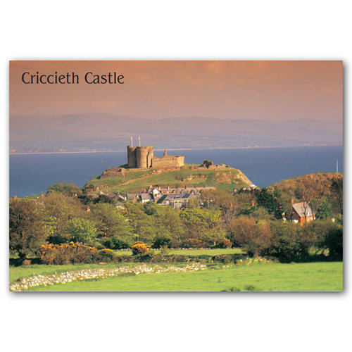 Criccieth Castle - Sold in pack (100 postcards)