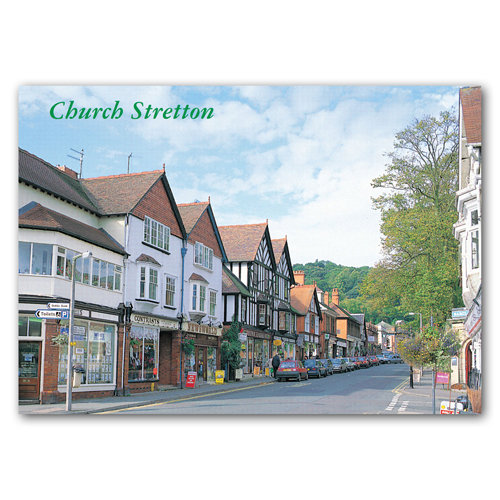 Church Stretton - Sold in pack (100 postcards)