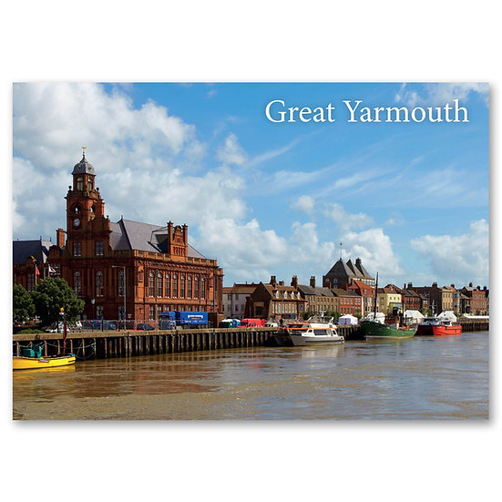 Great Yarmouth, South Quay - Sold in pack (100 postcards)