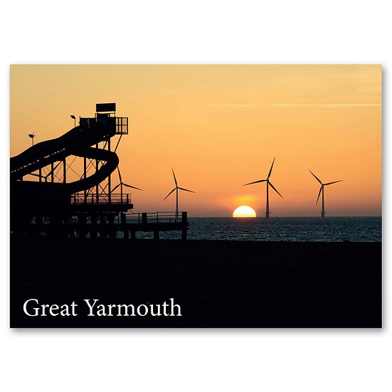 Great Yarmouth, Sunrise - Sold in pack (100 postcards)