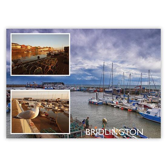 Bridlington Harbour Comp - Sold in pack (100 postcards)