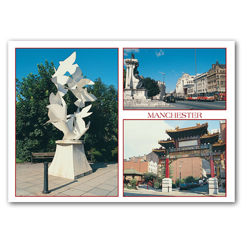 Manchester Doves of Peace - Sold in pack (100 postcards)