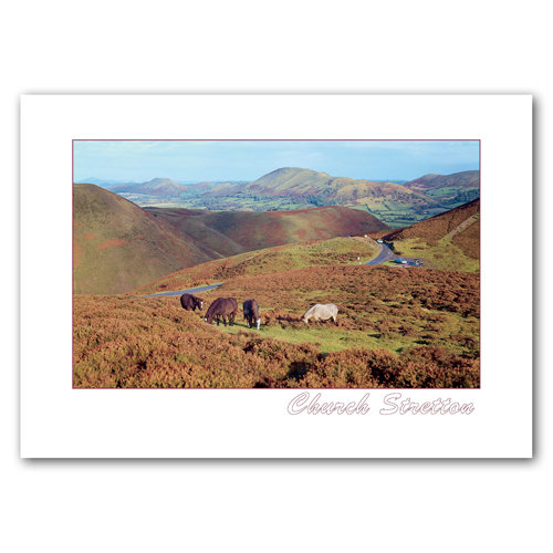 Church Stretton Long Mynd - Sold in pack (100 postcards)
