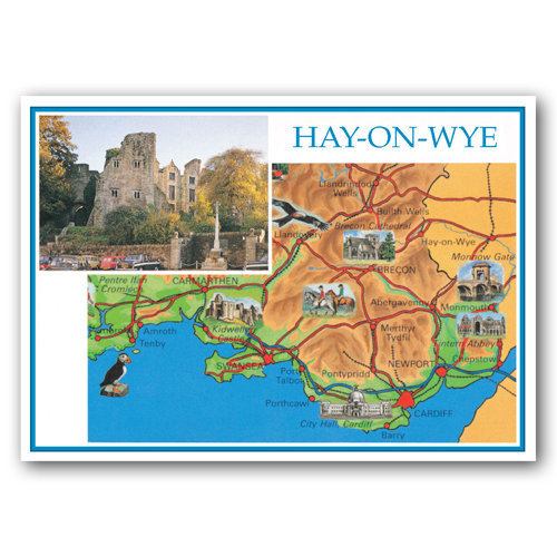 Hay On Wye - Sold in pack (100 postcards)