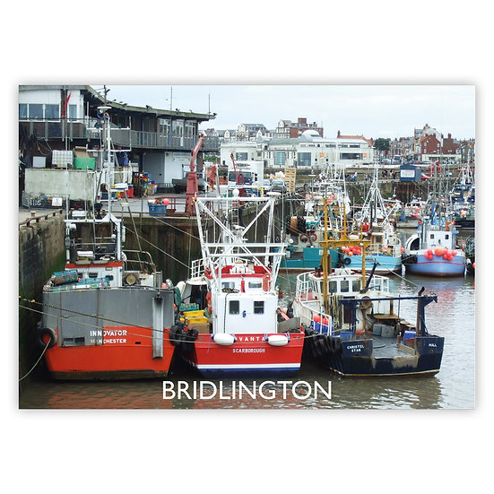 Bridlington Fishing Boats - Sold in pack (100 postcards)