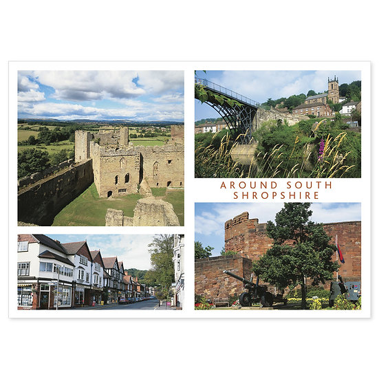 Shropshire South Around - Sold in pack (100 postcards)