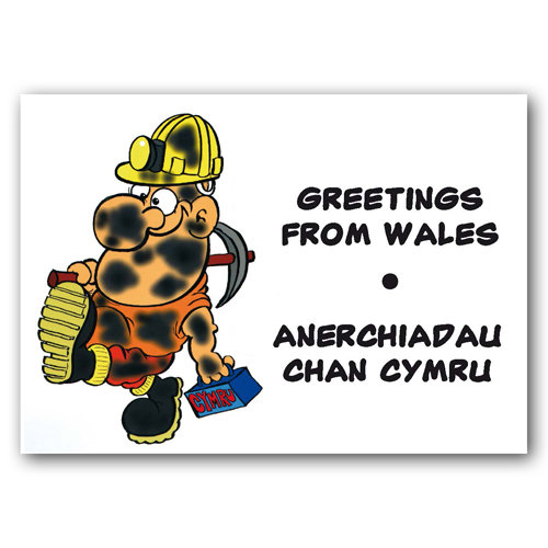 Wales Miner - Sold in pack (100 postcards)