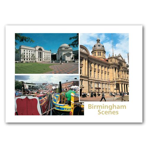 Birmingham Scenes 3 View Comp - Sold in pack (100 postcards)