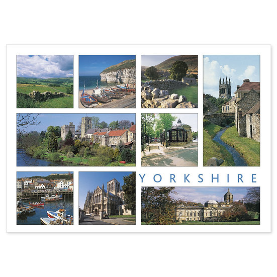 Yorkshire 9 View Comp - Sold in pack (100 postcards)