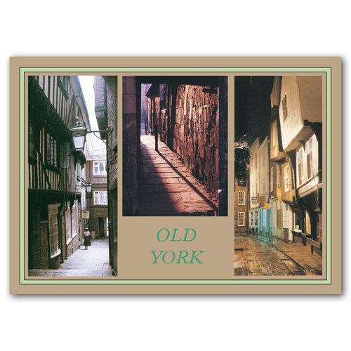 York Old 3 View Comp - Sold in pack (100 postcards)