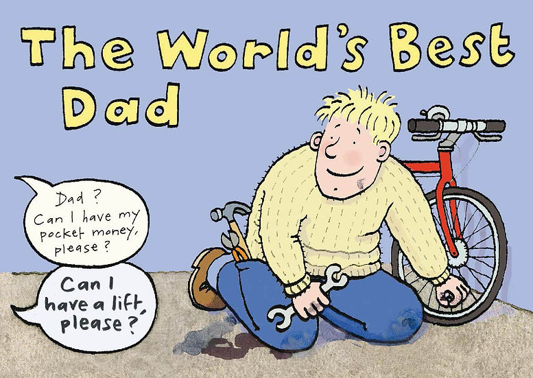 World's Best Dad - Sold in pack (100 postcards)