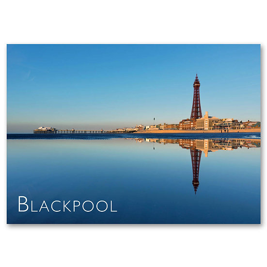 Blackpool Beach and Tower - Sold in pack (100 postcards)