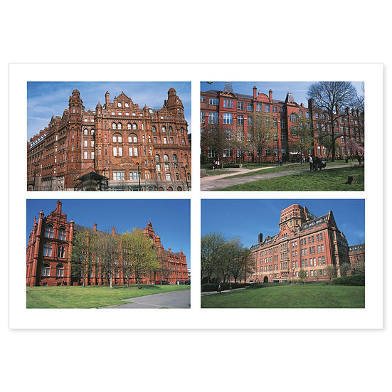 Manchester Buildings - Sold in pack (100 postcards)