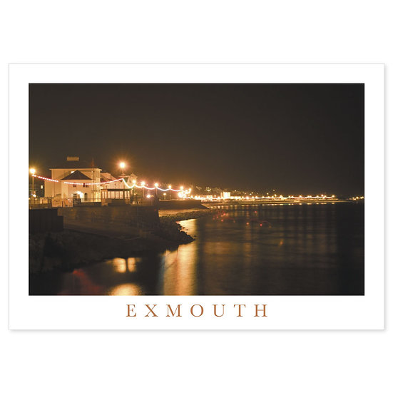 Exmouth Seafront by night - Sold in pack (100 postcards)