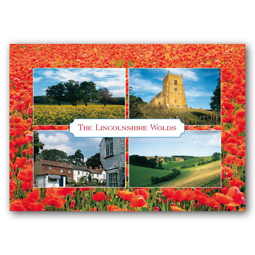 Lincolnshire Wolds - Sold in pack (100 postcards)