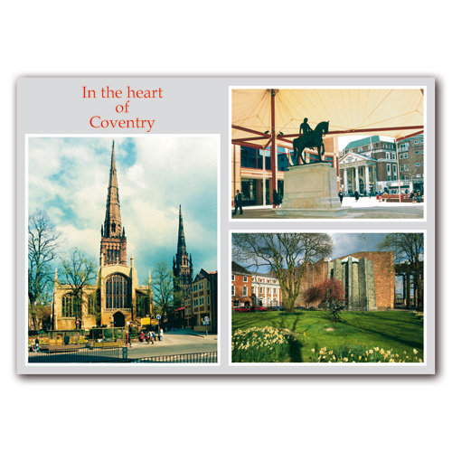 Coventry Heart - Sold in pack (100 postcards)