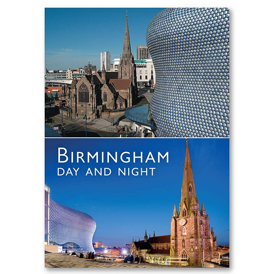 Birmingham, Day and Night 2 view composite - Sold in pack (100 postcards)