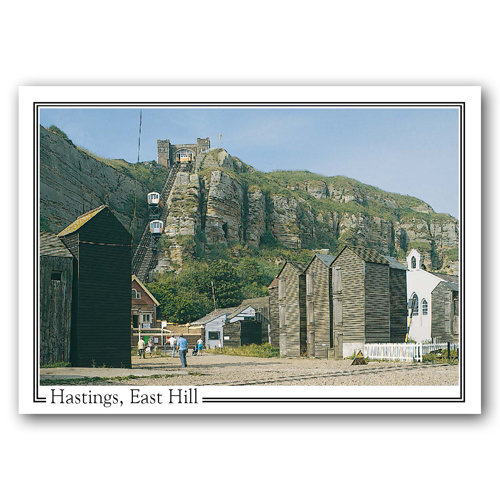 Hastings Net Shops and East Hill - Sold in pack (100 postcards)