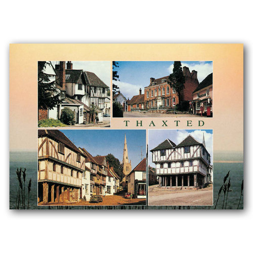 Thaxted 4 View Comp - Sold in pack (100 postcards)