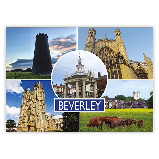 Beverley 5 View Comp - Sold in pack (100 postcards)