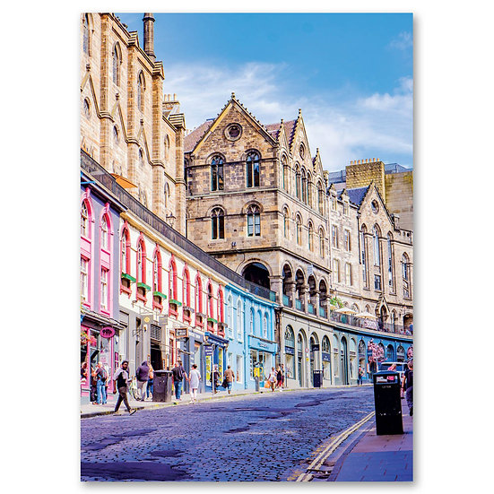Edinburgh - West Bow, Victoria Street, Old Town - Sold in pack (100 postcards)