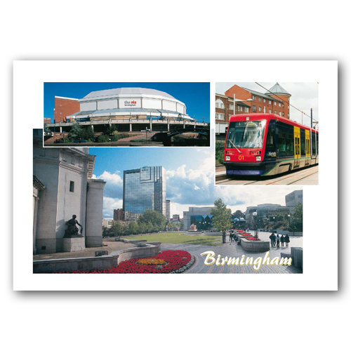 Birmingham 3 View Comp - Sold in pack (100 postcards)